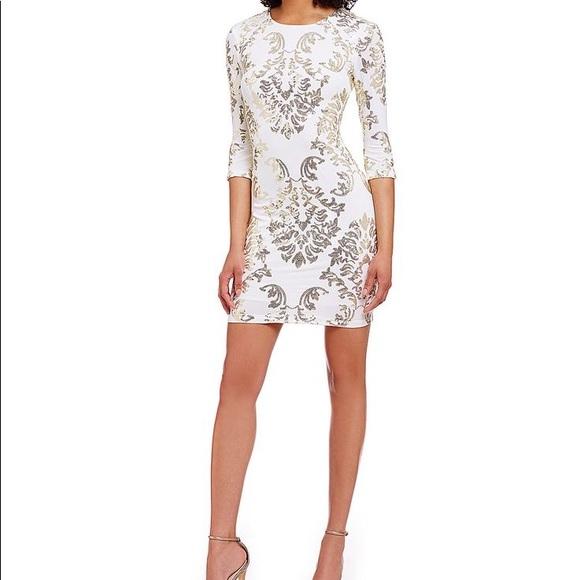 21f074ffb4c B Darlin Sequined Cutout Bodycon Dress